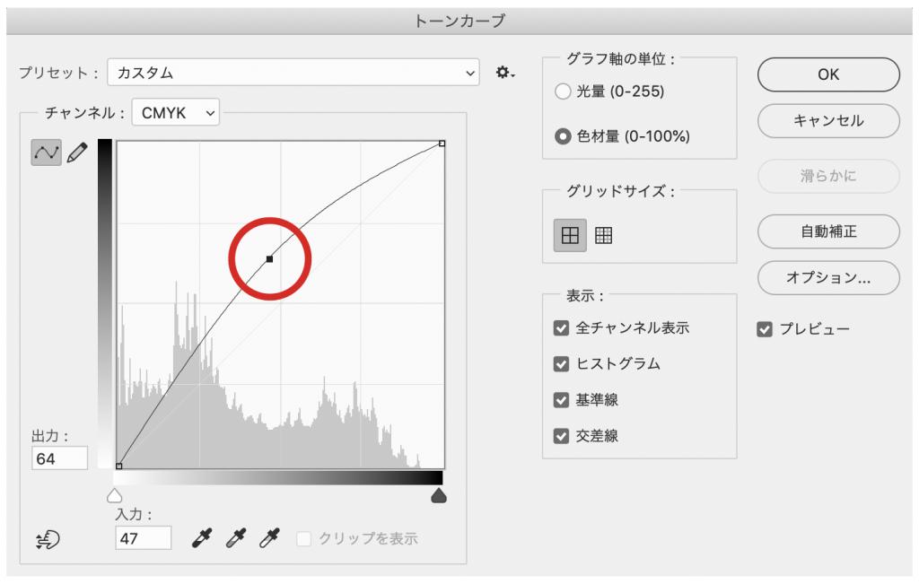 Adobe Photoshopのトーンカーブの使い方の基本1