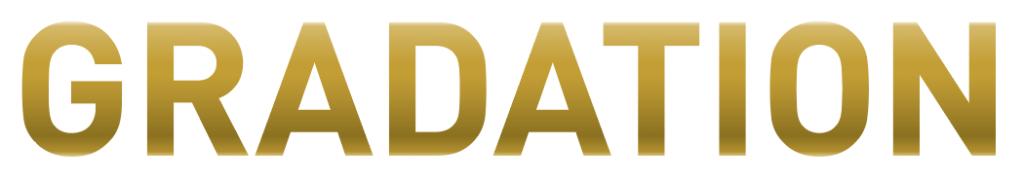 フォントにゴールドのグラデーション